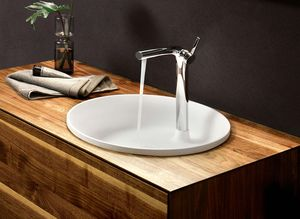 Bathroom lignatur in walnut washbasin