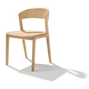 chaise mylon en chêne huile blanche