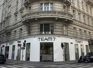 External view of store at TEAM 7 Vienna