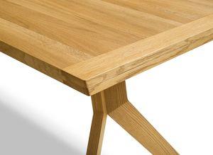 Table extensible yps avec bords biseautés