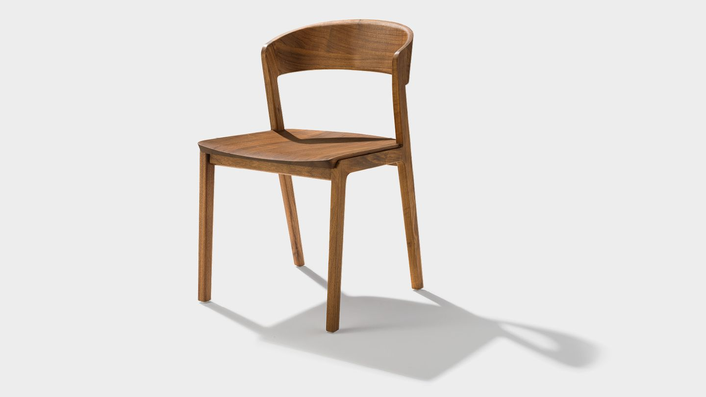 mylon chair in walnut made from solid wood
