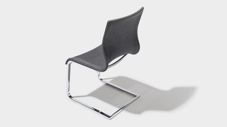 chaise cantilever magnum en stricktex gris foncé chiné