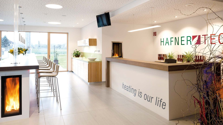 Мебель из массивного дерева от TEAM 7 в здании фирмы Hafnertec