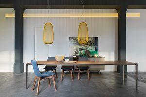 Table de salle à manger design tak en noyer de TEAM 7