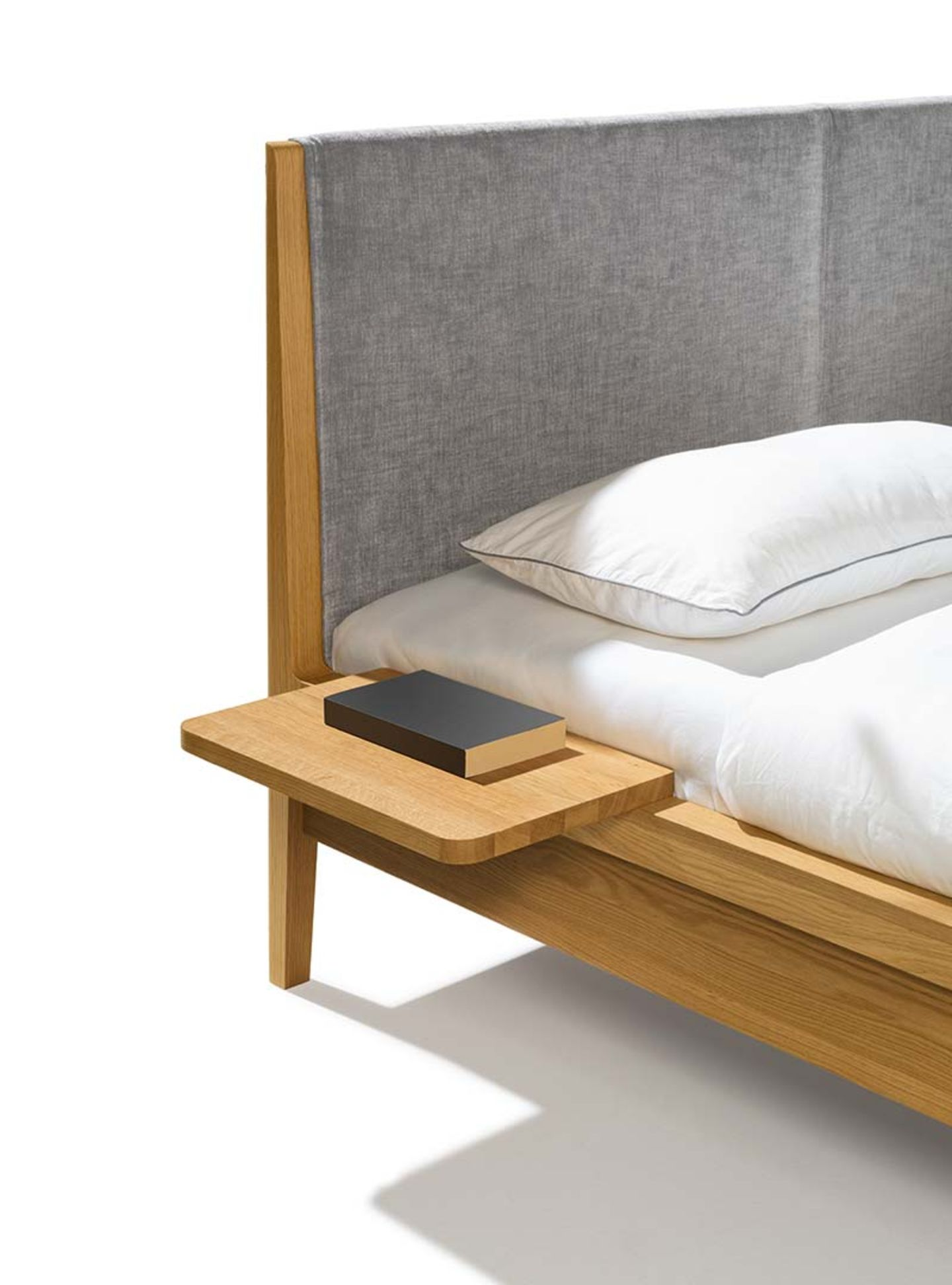 mylon bed console with oak by TEAM 7