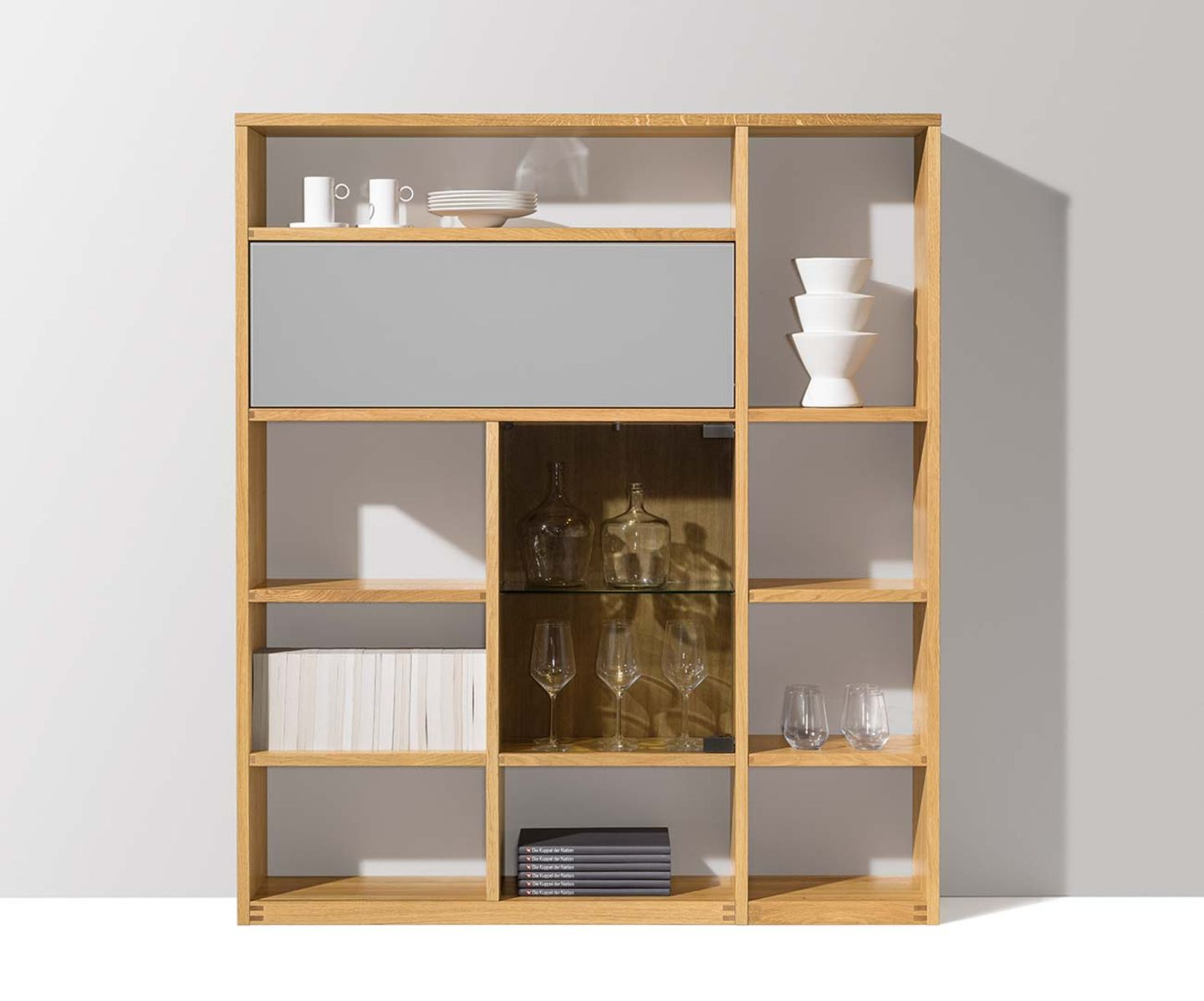 cubus shelf system with consistent form language