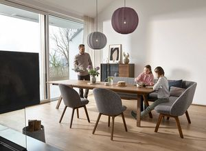 Dining room furniture taso table made of solid wood by TEAM 7