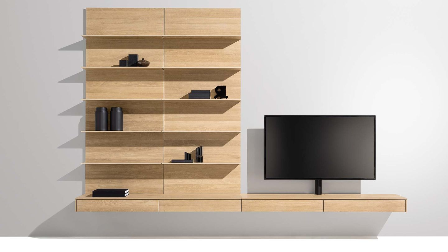filigno wall unit in oak white oil by TEAM 7