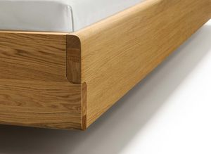 nox wood bed with gently rounded edges