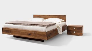 nox bed in walnut