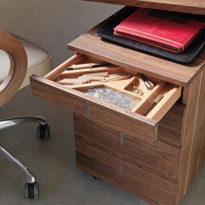 Scrivania cubus e contenitore con rotelle con pratici divisori per cassetti