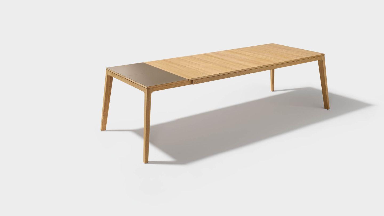 Table de salle à manger design extensible mylon en bois naturel