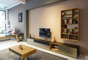 cubus pure living room wall unit at TEAM 7 store Munich
