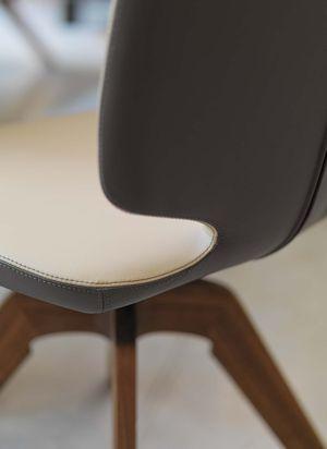 """Дизайнерский вращающийся стул """"aye"""" из кожи, двухцветный"""