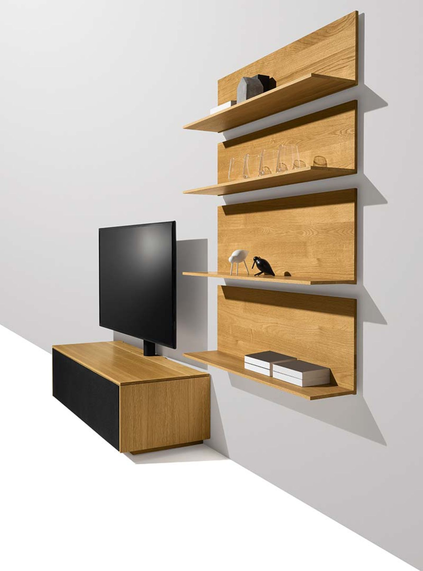 filigno Home Entertainment in oak made of solid wood