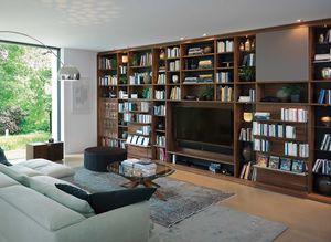 cubus Wohnwand mit integrierter Bibliothek