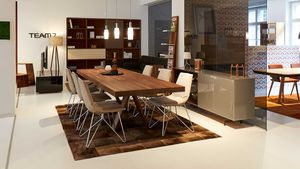 tema table with lui chairs and cubus pure sideboard.