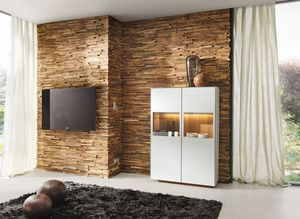 Waldkante wall cladding made of solid wood