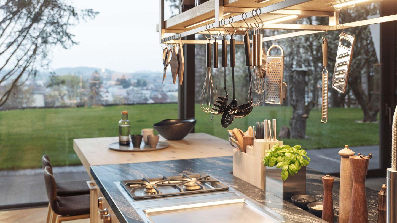 Piano cottura della cucina loft