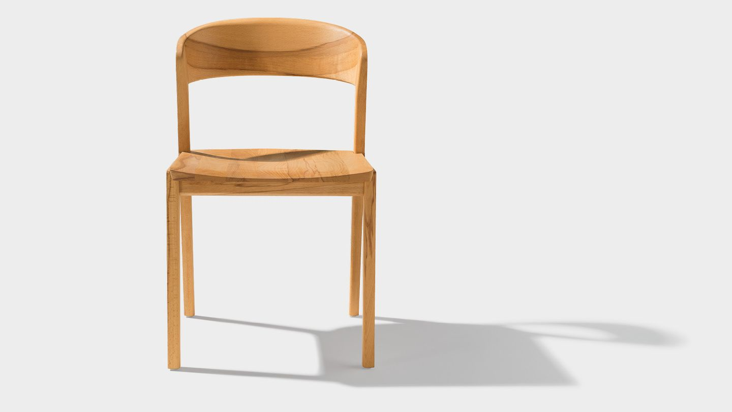 mylon chair front in beech heartwood