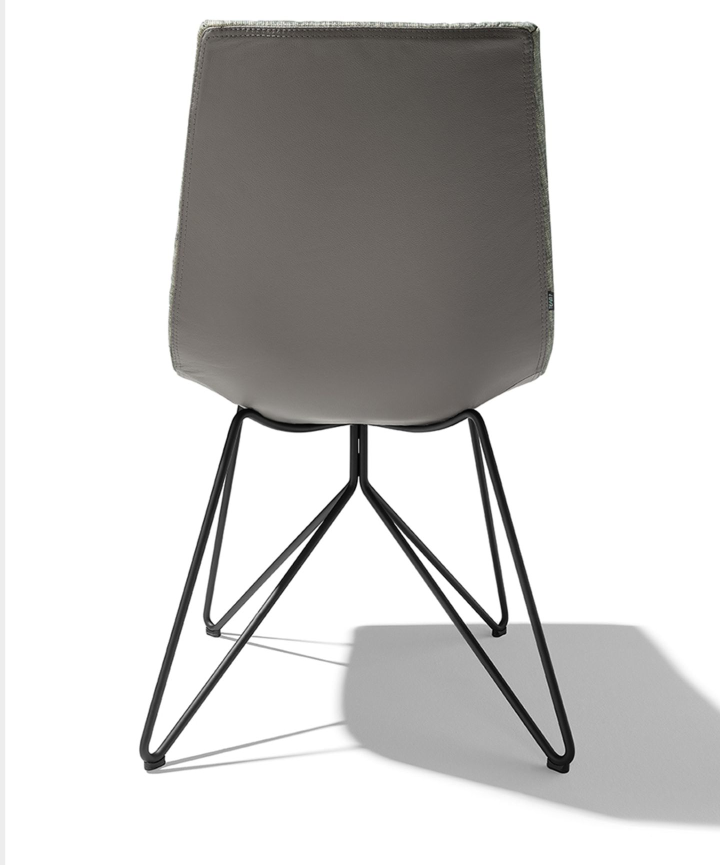 lui chair fabric maple wire frame stainless steel finish back