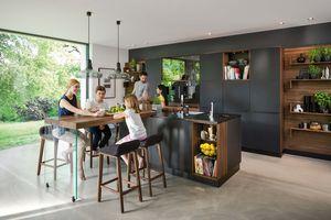 designer kitchen black line made of solid wood by TEAM 7