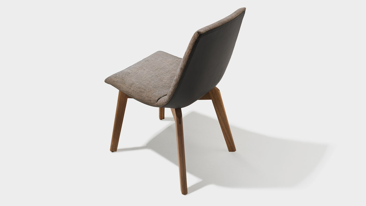 lui chair fabric cover base solid wood