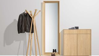 meuble de vestibule filigno avec portemanteau hood en chêne huile blanche