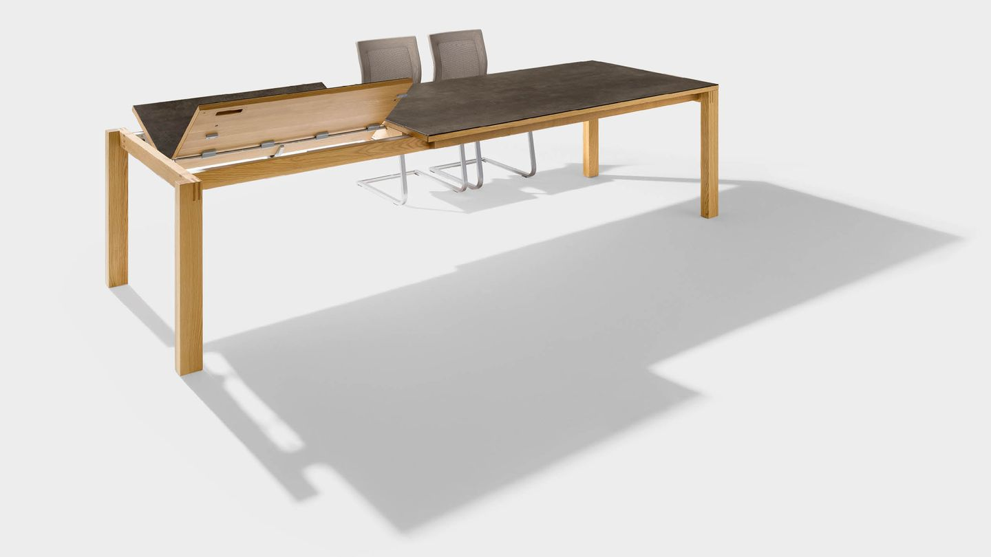magnum extendable table made of wood with ceramic surface for the dining room