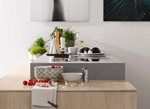 filigno kitchen island with ceramic cube