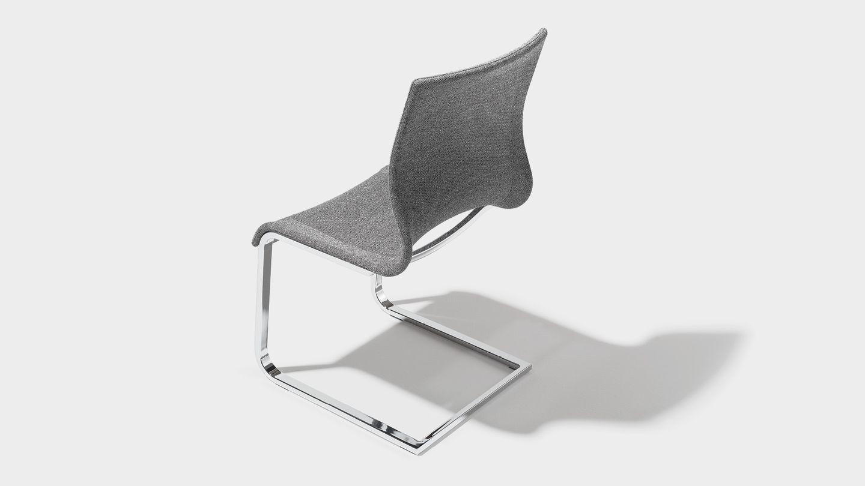 chaise cantilever magnum en stricktex gris moyen chiné