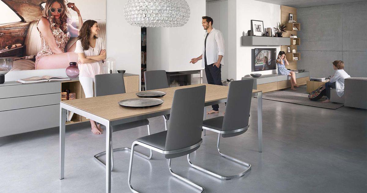 tak Tisch mit Metallfuß   Reduktion auf das Wesentliche   TEAM 7