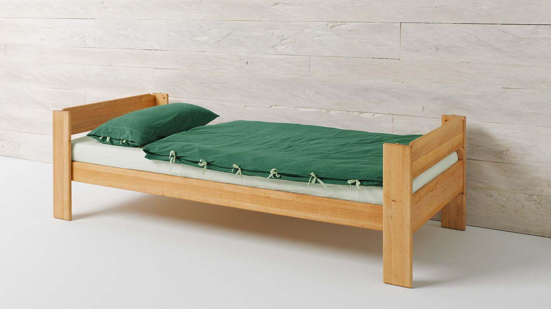 Kindermöbel Einzelbett mobile aus Naturholz