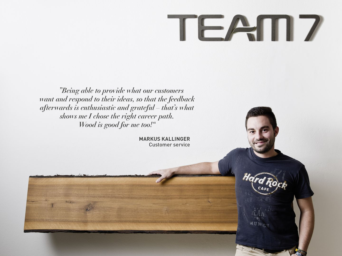 Statement by Markus Kallinger about working at TEAM 7