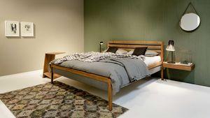 mylon Bett mit Stoffbetthaupt aus Massivholz bei TEAM 7 Wels