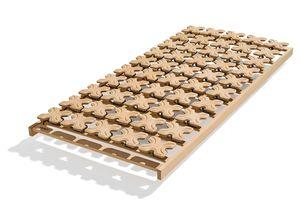 Base a dischi classic flex priva di metallo in faggio massello