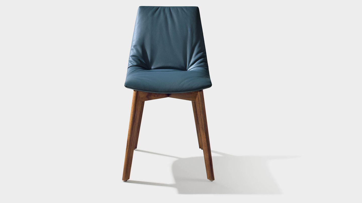 lui chair with leather and wooden legs