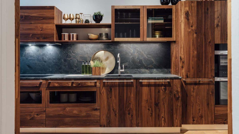 loft Küche in Nuss wild im TEAM 7 Store Linz