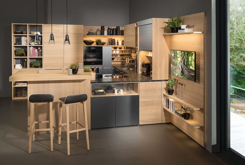 Solid wood kitchen linee oak