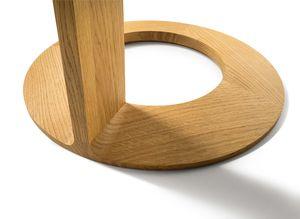 Tavolino di servizio loup in legno massello con dettagli artigianali