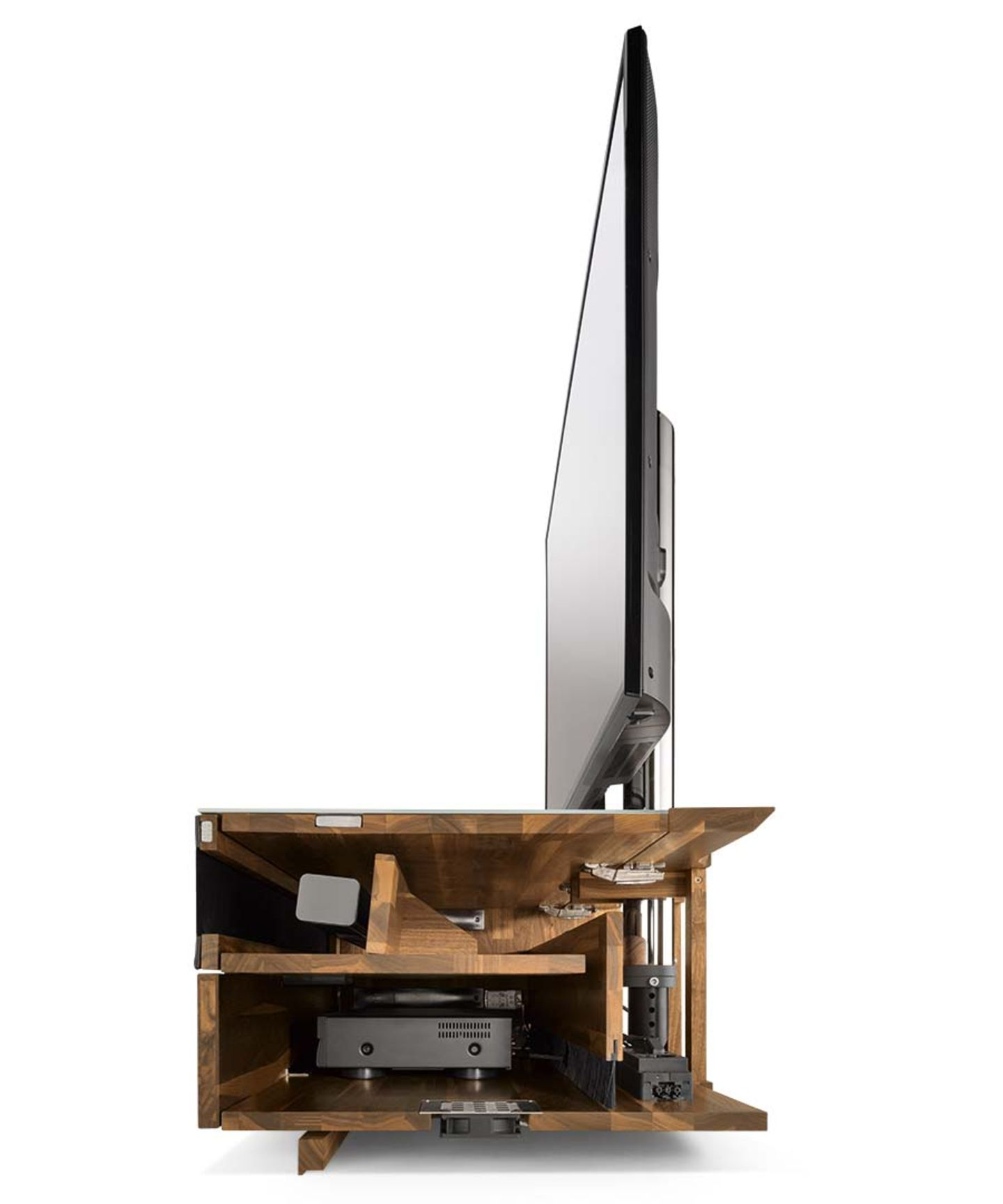 cubus pure Home Entertainment furniture with element sliced open