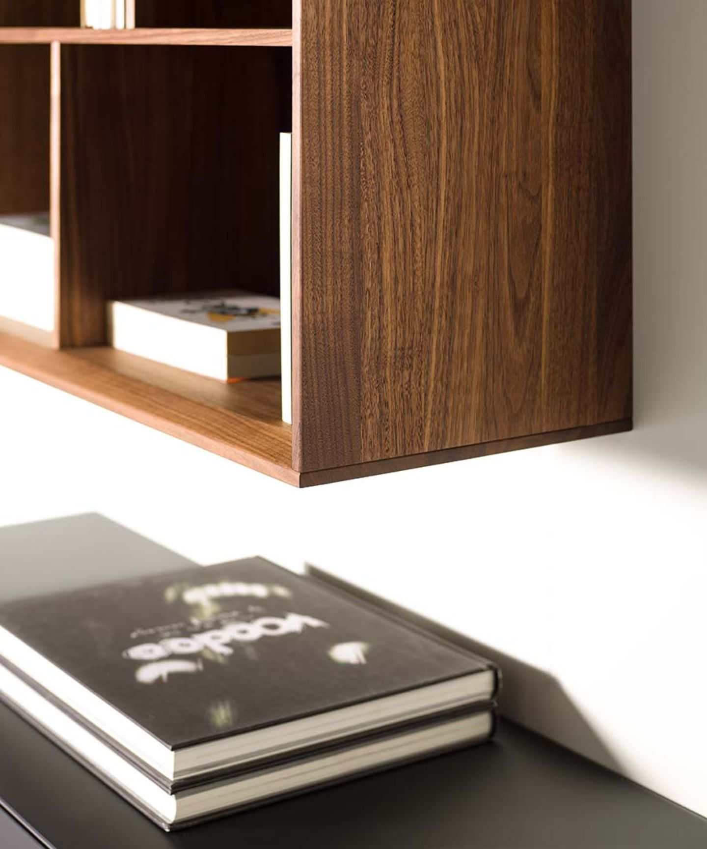 cubus pure wall unit in solid wood with detailed craftsmanship