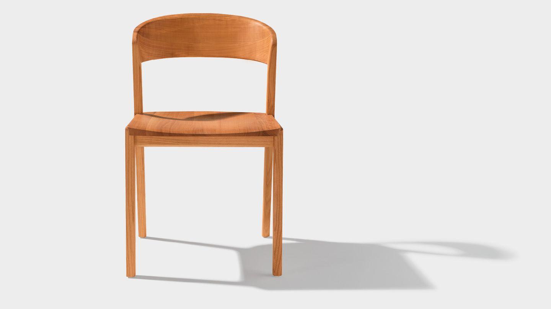 mylon wooden chair front in cherry