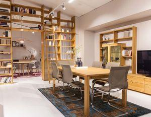 cubus Bibliothek und magnum Tisch und Freischwinger