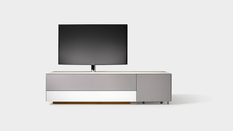 Home Entertainment Möbel cubus pure mit integriertem Subwoofer Element