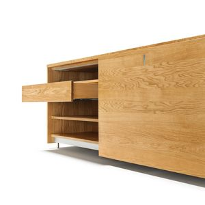 cubus sideboard made of solid wood in oak with drawer
