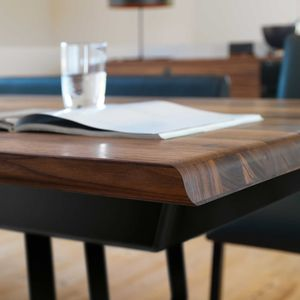 nox table made from natural, solid wood