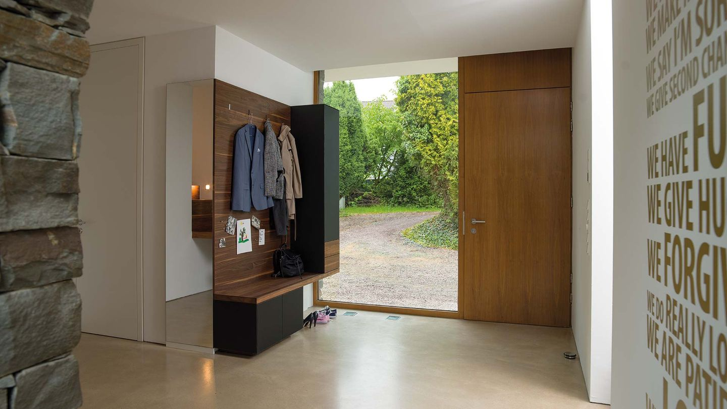 cubus pure coat cabinet made of solid wood