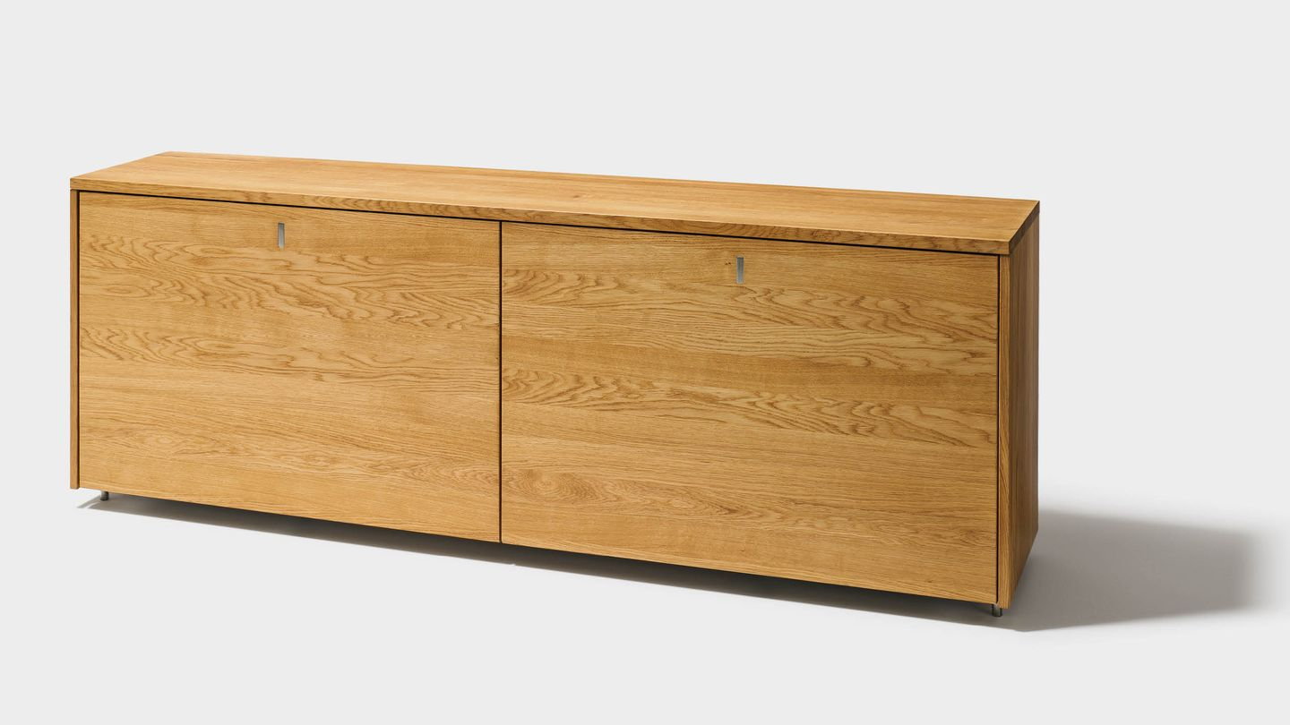 cubus sideboard made of solid wood in oak