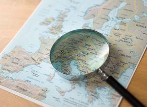 Карта Европы с возможностью увеличения